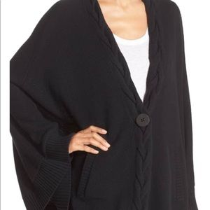 Ugg Anjeline Black Knit Cape XL